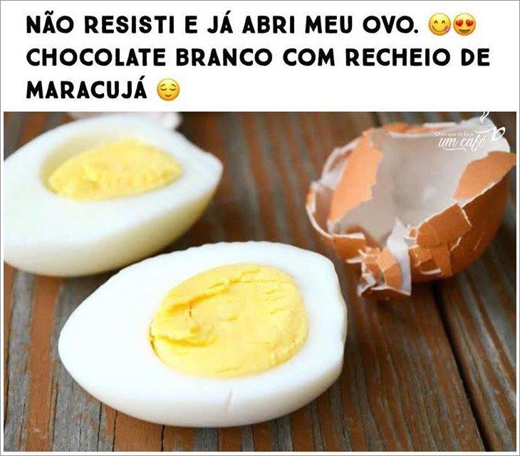 Não resistir e já abri meu ovo...